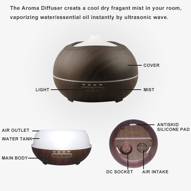 Hidly Wood Aromatherapy Diffusers