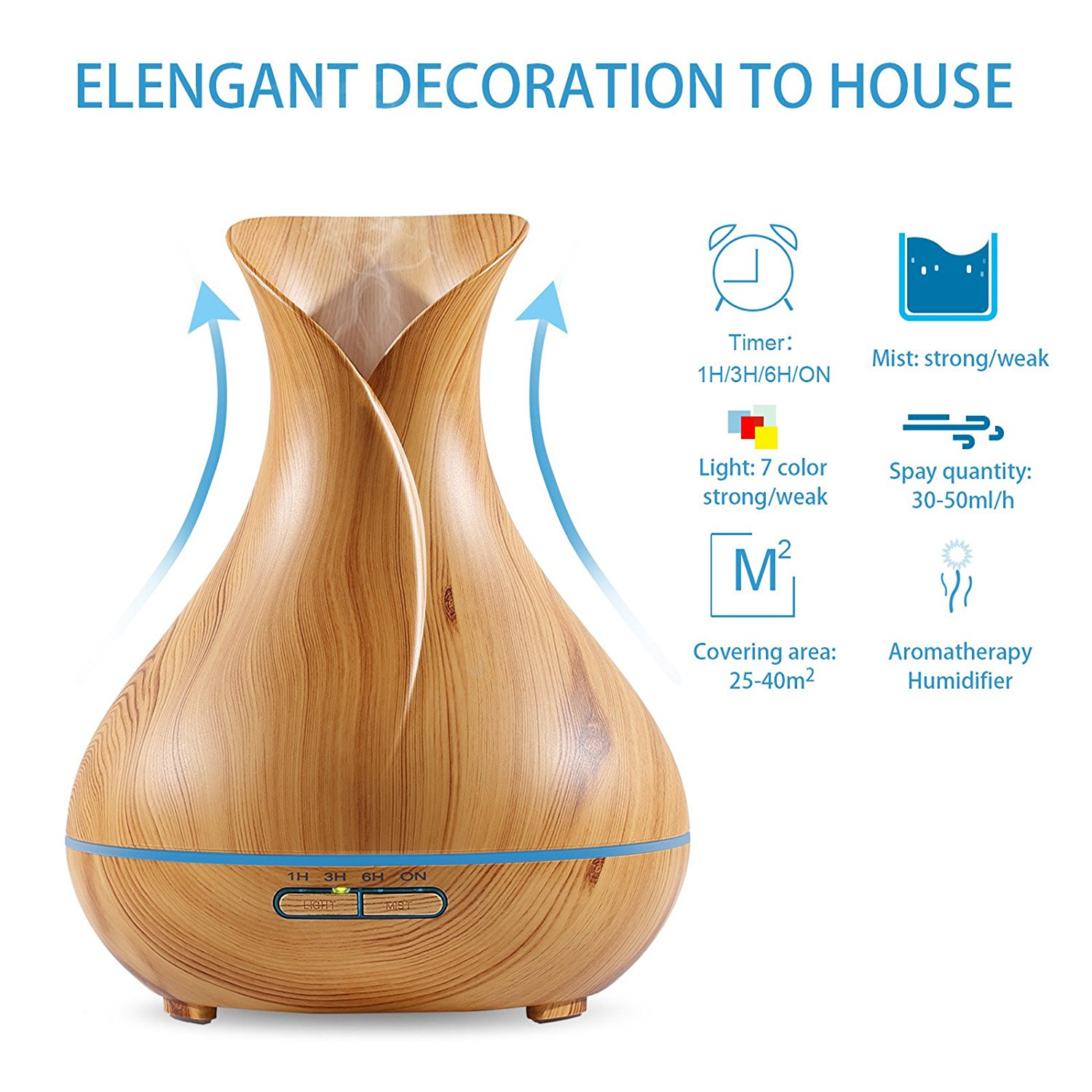Flower Wood Aroma Diffusers-H1522A
